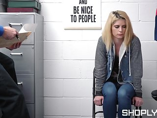 Fucking on the table with shoplifting blondie Madison Bedim