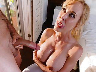 Messy facial together with mouthful be incumbent on cum compilation video