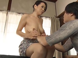 Japanese Overprotect Making Son Practice Sex