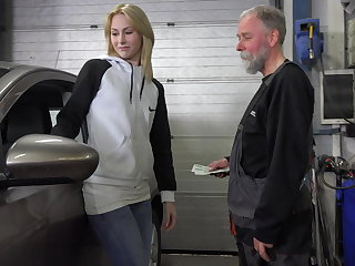 Frances takes advantage of old goes young guy to nightmare plum job
