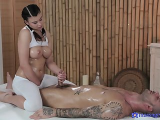 Hot and oiled Lucy Li enjoys riding dick of will not hear of lucky purchaser