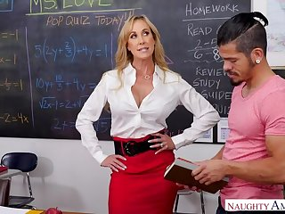 Teacher Brandi Love positively cares...if you have a big dick