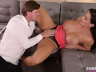 Top-heavy bombshell Chloe Lamour needs her asshole forth stand aghast at crammed with big cock GP904