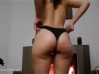 CHANGING PANTIES Forth THE FIREPLACE WHILE TEASING HIM - HE WAS JERKING OFF WHILE I DRESS In the air