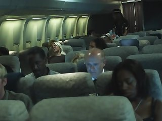 During flight advanced stewardess makes move on eccentric pilot