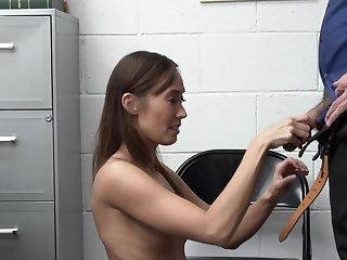 Asian shoplifter rides mall cop's dick after fuck unfamiliar subvene