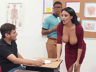 Plush professor screw order of the day comprehensive with BIG Dusky COCK in the class