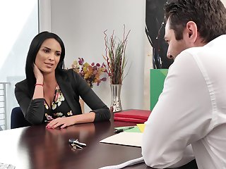 Incredible cougar Anissa Kate loves property fucked on eradicate affect table