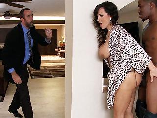 Whisper suppress returned when housewife rails BIG BLACK COCK