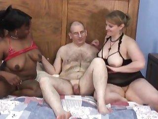 Lucky Dude - Interracial Milf Homevideo