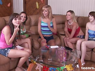 Wild birthday party turns into a hardcore group fuck session