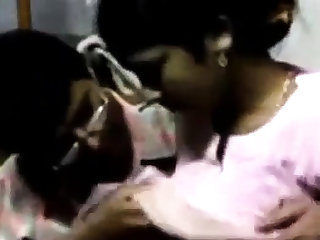 Indian guy makes outside with a maid increased by licks her natural tits