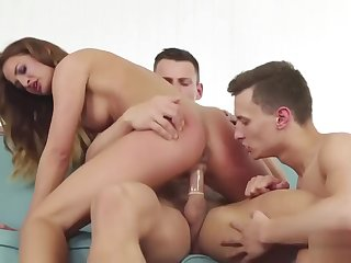 Blonde Teen Nicole Appreciates Threesome