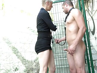 Outside have sex with a stranger is a fantasy of sex-crazed mature Martina