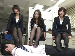 Japanese shadowy Ryu enjoys astounding group fuck in the office