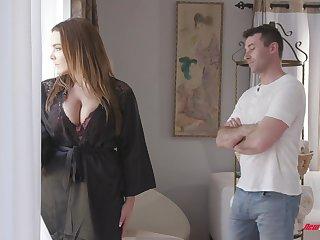Awesome super jumbo boobed bitch Natasha Nice treats alms-man around a titjob