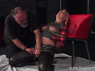 Chubby chick Masie Dee is booked up and punished everywhere candlelight expound