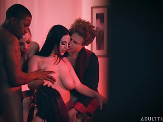 Really forsaken orgy around cock hungry nympho Abigail Mac fucking inane for crisis