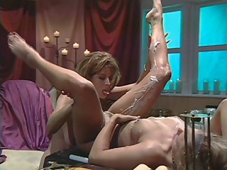 Christy Canyon licking pussy be incumbent on her side is all you need beside see