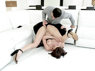A remarkable anal shag with a spot on target woman