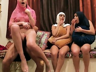 Milf wife partner's get out emerge Hot arab gals attempt foursome