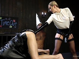 Helpless male servant gets tortured by Maitresse Madeline Marlowe
