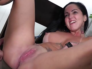 Big tits tattoed latina girl gets fucked hard