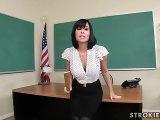 Veronica Avluv is a sumptuous dark haired with immense, rigid hooters who luvs less blow various hard-ons
